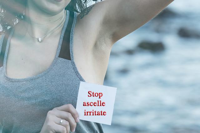 ascelle irritate